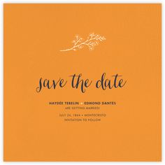 Tangelo (Save the Date) - Paperless Post