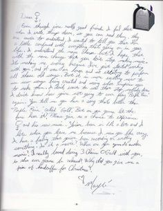 Letter from Mayte