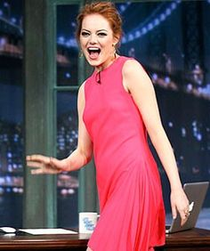 Can Redheads Wear Hot Pink? Let's Ask Emma Stone #refinery29