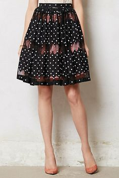 Frou frou skirt. {anthropologie} Love the dots.