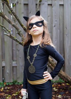 kid catwoman costume // skirt as top