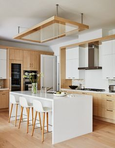 How To Incorporate Contemporary Style Kitchen Designs In Your Home Kitchen Room Design, Interior Design Kitchen, Kitchen Decor, Kitchen Ideas, Condo Kitchen, Kitchen Wood, Interior Modern, Modern Exterior, Kitchen Layout