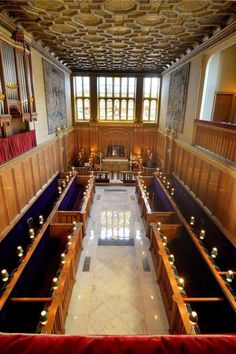 The interior of the Chapel Royal at St James's Palace, where Prince George of Cambridge was  christened
