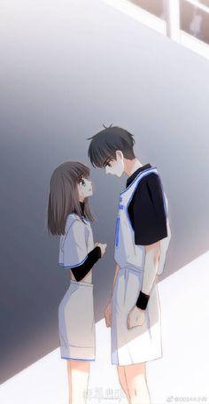 Sad Anime Couples, Anime Couple Kiss, Romantic Anime Couples, Anime Couples Drawings, Cool Anime Girl, Cute Anime Pics, Anime Cupples, Kawaii Anime, Cover Wattpad