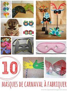 10 masques de carnaval à fabriquer |La cour des petits