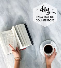 Easy and affordable DIY marble! Transform any desktop, vanity, or countertop into a custom faux marble finish using Giani™ stone paints for countertops. Perfect for photo backdrops too!