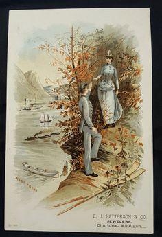 Vintage Antique Victorian Trade Card Jewelers Charlotte, Michigan  | Collectibles, Advertising, Merchandise & Memorabilia | eBay!