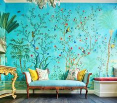 Nice 41 Amazing Painting Wallpaper on Livingroom. More at https://homishome.com/2018/07/23/41-amazing-painting-wallpaper-on-livingroom/ House Goals, Interior Styling, Interior Decorating, Interior Design, Wall Design, House Design, Paper Hearts, Arte Nas Paredes, Humble Abode