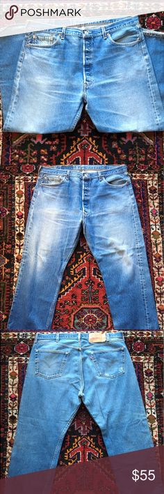 Vintage Levi's 501® Vintage Levi's 501 ® MADE IN USA 🇺🇸 / amazing Denim for that chubby dude / actual size is 40 / Levi's Jeans Straight