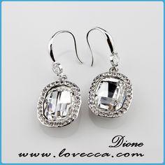 Oval transparent Swarovski earrings Item No.:AE1(212)  #Wholesale, #swarovski, #earrings, #jewelry, #crystal, #love, #wedding, #bridal, #diamond,   #fashion, #factory