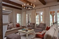 traditional family room by Anna Baskin Lattimore Design