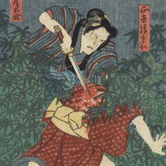 Murderous Woman by Toyokuni III/Kunisada (1786 - 1864)