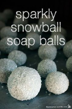 Sparkly Snowball Cold Process Soap Balls Recipe and Tutorial for the Winter Holidays
