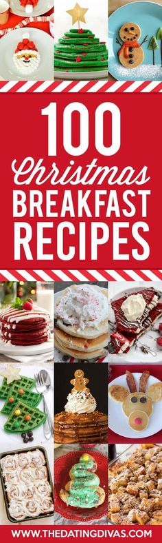 100 Christmas Breakfast Ideas - from The Dating Divas 100 perfect Christmas Breakfast Recipes gathered into one place! No matter how many you need to feed or how much time you want to spend this post has you covered! Christmas Morning Breakfast, Christmas Brunch, Christmas Cooking, Breakfast For Kids, Christmas Goodies, Christmas Fun, Breakfast Recipes, Breakfast Ideas, Christmas Dishes