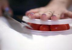 EASY WAY TO SLICE CHERRY TOMATOES