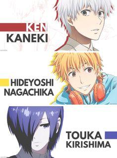 Ken Kaneki, Hideyoshi Nagachika and Touka Kirishima  | Tokyo Ghoul