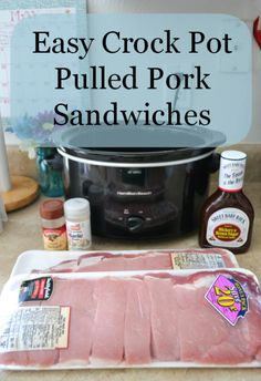 Easy, Crock Pot, Pulled Pork, Sandwiches Best pulled pork. I use Kraft sweet honey BBQ sauce
