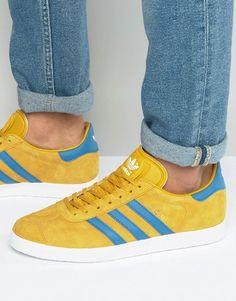 official photos 1d9fd 6494e Shop adidas Originals Gazelle Trainers In Yellow at ASOS.