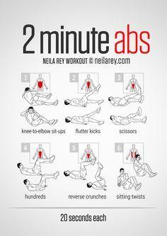 2 Minute Abs Workout [ SkinnyFoxDetox.com ] #fitness #skinny #health