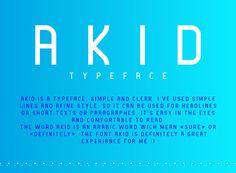AKID Free Font, #Graphic #Design, #Free, #Resource, #Typeface, #Typography, #TTF, #Headline, #Sans_Serif
