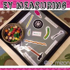 Early years measuring with cubes Maths Eyfs, Numeracy Activities, Eyfs Classroom, Measurement Activities, Math Measurement, Kindergarten Math, Teaching Math, Preschool Activities, Teaching Ideas