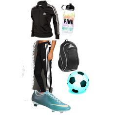 """Soccer outfit for soccer practice"" by tbueford on Polyvore"