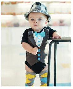 Rugged Butts Black Bowtie Tuxedo Short Sleeve Snapsuit