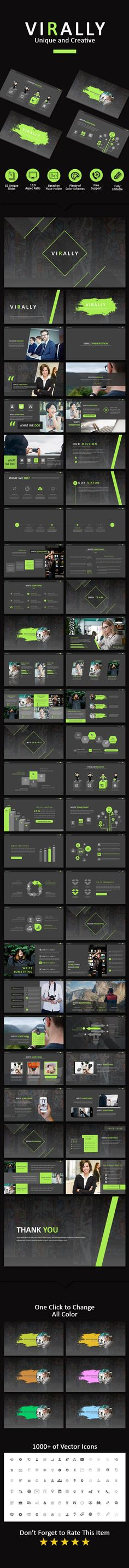 Virally Creative Powerpoint - Business PowerPoint Templates