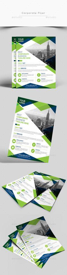 Corporate Flyer Template PSD #design Download: http://graphicriver.net/item/corporate-flyer/13843752?ref=ksioks