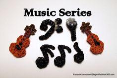 Rainbow loom Music Series by Elegant Fashion 360   ♥Subscribe YouTube Channel:  https://www.youtube.com/user/ElegantFashion360  ♥ Sing up for Newsletter: http://elegantfashion360.com