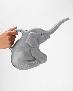 Adorable Elephant Shaped Watering Can in plastic with a 2 quart capacity. Gray Elephant Watering Can Blow-mold plastic garden accessory 2 quart watering can Grey Elephant, Elephant Art, Elephant Stuff, Elephant Jewelry, Elephant Gifts, Home Decor Accessories, Decorative Accessories, All I Want For Christmas, Elephants Never Forget