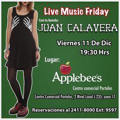 Amigos Calavera! Este viernes 11/12 nos vemos en @applebeesgt  de @portales_gt  7:30 todos invitados #sacudetushuesos