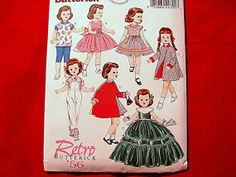Butterick Retro 1950s 18 inch Doll Clothes by PatternsFromThePast