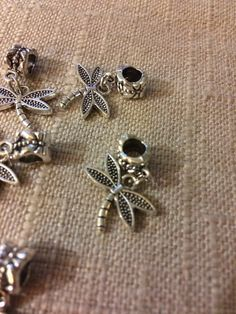 Pandora inspired Dangling Charm // Dangling Dragonfly  // 2 Pieces // Gifts for Her