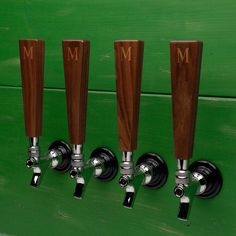 All Natural Walnut Beer Tap Handle ($40) ❤ liked on Polyvore featuring home, kitchen & dining, bar tools and beer faucet