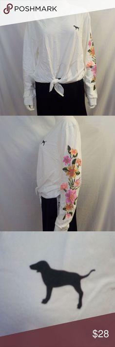 a678fca1052 M Pink Victoria s Secret Flower Long Sleeve NWT Pink Victoria s Secret  Flower Long Sleeve Shirt NWT