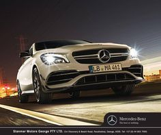 The unusually striking lines, together with the surfaces curved both inwards and outwards, give the CLA its sporty character. Contact on 044 802 7000 for more information or to book a test drive. New C Class, Beach Road, Team S, Driving Test, Motors, Mercedes Benz, Product Launch, Sporty, Book