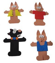 A história dos Três Porquinhos é um clássico da literatura infantil. Com os dedoches dos Três Porquinhos fica mais fácil e divertido contar essa história.