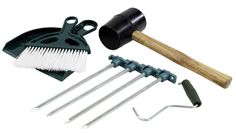 Outwell Tent & Camping Tool Kit - Includes a #mallet to bash those pegs in, peg extractor to take them out again, strong steel pegs to anchor your tent and a dustpan and brush to clean up those crumbs! #campingchecklist £7.64