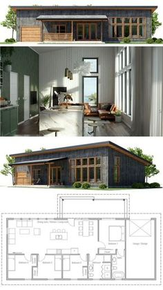 Tiny House Plans 830210512533033482 - Small House Plan Source by olofrost Barn House Plans, Modern House Plans, Tiny House Plans, House Floor Plans, Small House Plans Under 1000 Sq Ft, Small House Images, 1200 Sq Ft House, Building A Container Home, Container House Plans