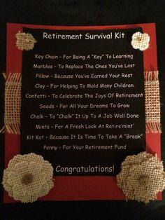 Retirement survival kit. Teacher retirement