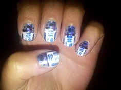 R2D2 nails by Sylvia VonDeck