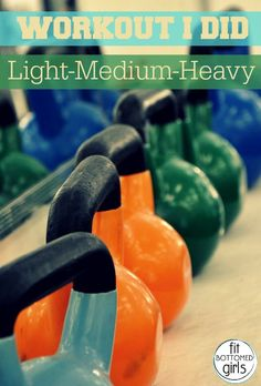 Jenn's Light-Medium-Heavy Workout will get you outside of your comfort zone. | Fit Bottomed Girls