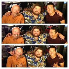 Terry O'Quinn, Jorge Garcia, and Daniel Dae Kim, in the days after LOST ended, got to work together again on Hawaii Five-0. That was pretty sweet!