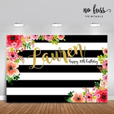Forty and Fabulous Backdrop Adults Party Banner Poster Happy 30th Birthday, 40th Birthday Parties, Birthday Woman, 40th Bday Ideas, Birthday Themes For Adults, Graduation Decorations, Birthday Party Decorations, Kate Spade Party, 40 And Fabulous