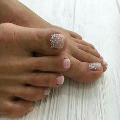Pedicures, manicure e pedicure, foot pedicure, french pedicure, toe nail . Pretty Toe Nails, Cute Toe Nails, My Nails, Acrylic Toe Nails, Toe Nail Art, Glitter Toe Nails, Pink Toe Nails, Toe Nail Color, Nail Colors