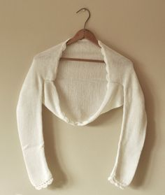 BRIDAL SHRUG wedding bolero mohair warm color light cream size S. $50,00, via Etsy.