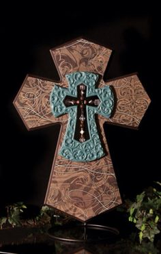 Unique WESTERN Style Sale! Rustic Cedar Wood Wall Cross Decor Barbed ...