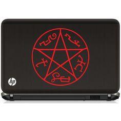 Supernatural Devil's Trap laptop vinyl decal on Etsy, $5.00
