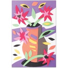 United Art and Education Art Project:  Make a Matisse-Inspired collage with cut pieces of WonderFoam!